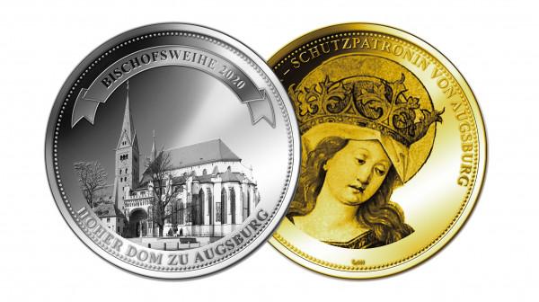 """Medaille """"Bischofsweihe Augsburg"""""""