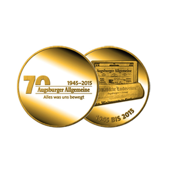 """Medaille """"70 Jahre Augsburger Allgemeine"""""""