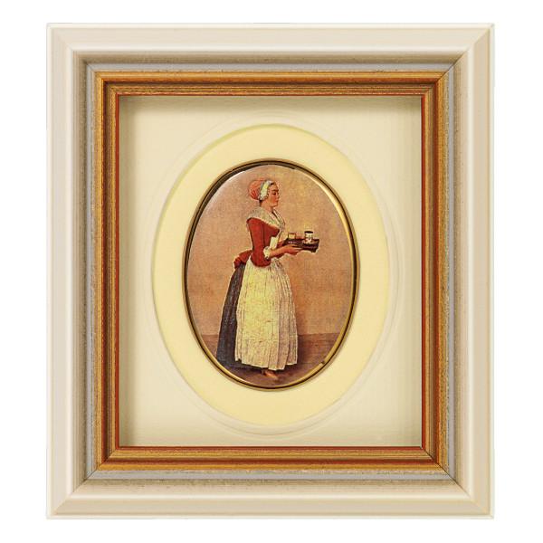 "Jean-Étienne Liotard: Miniatur-Porzellanbild ""Schokoladenmädchen"""