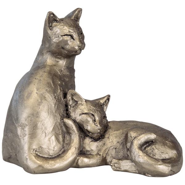 """Paul Jenkins: Skulptur """"Katzenpaar Toby und Poppy"""""""