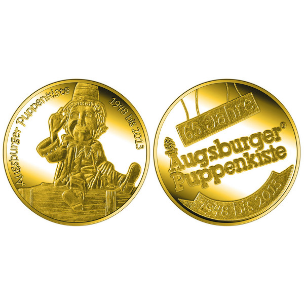 "Goldmedaille ""65 Jahre Augsburger Puppenkiste"""
