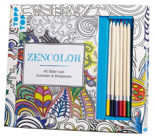 Kreativ-Set Zencolor mit Holzstiften