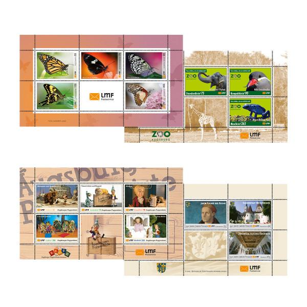 Briefmarken Schmuckbögen - 4er Set