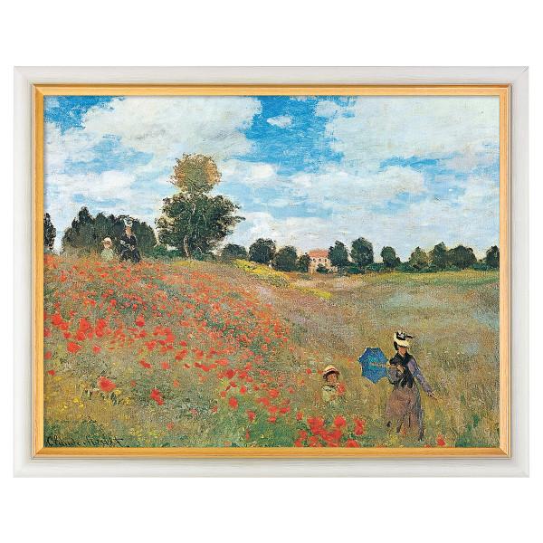 "Claude Monet: Bild ""Das Mohnfeld bei Argenteuil"" (1873), gerahmt"