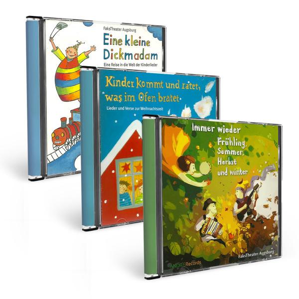 Kinderlieder CD Dreier-Set