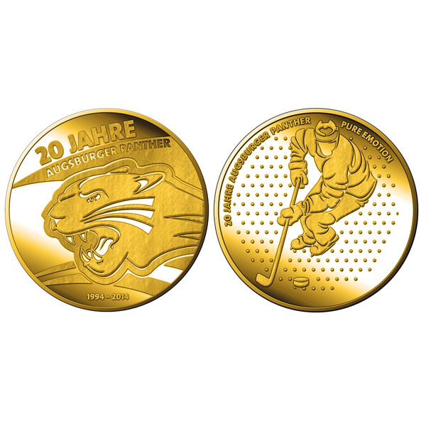 "Goldmedaille ""20 Jahre Augsburger Panther"""