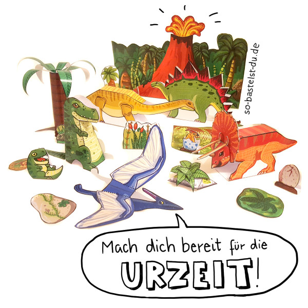 So bastelst Du - Dinosaurier