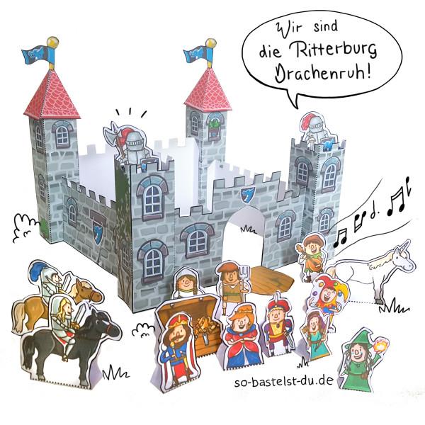 So bastelst Du - Ritterburg
