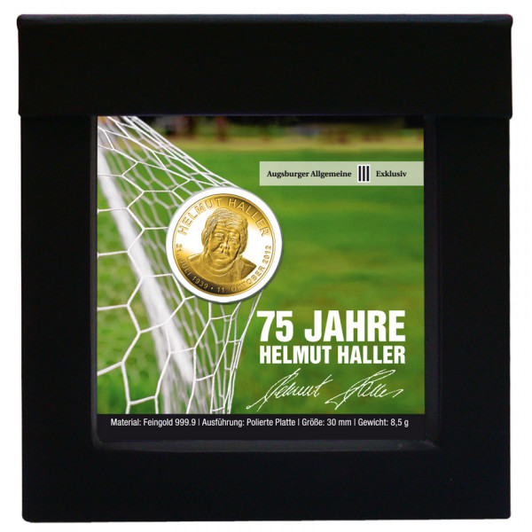 """Medaille """"75 Jahre Helmut Haller"""""""